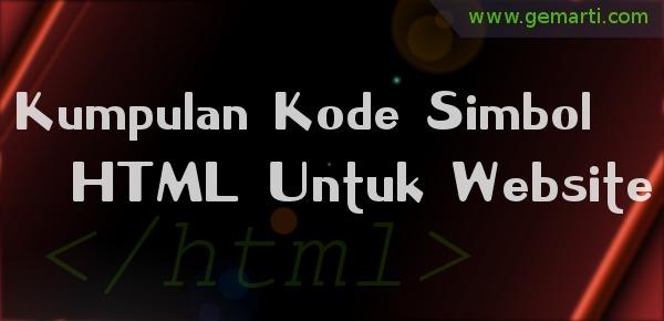 Kode Simbol HTML