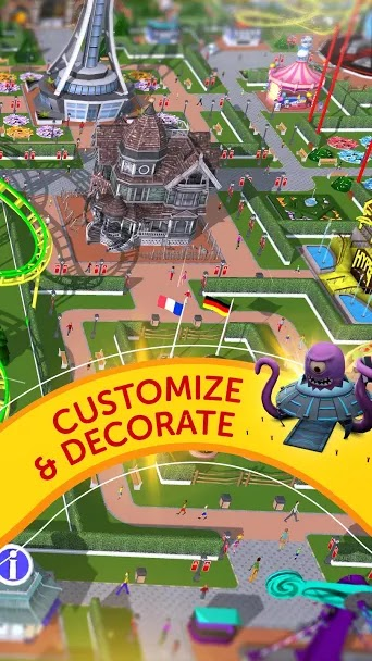 Free Download RollerCoaster Tycoon Touch MOD APK