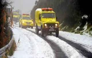 Bulo nevada Valleseco, martes 21 de frebrero