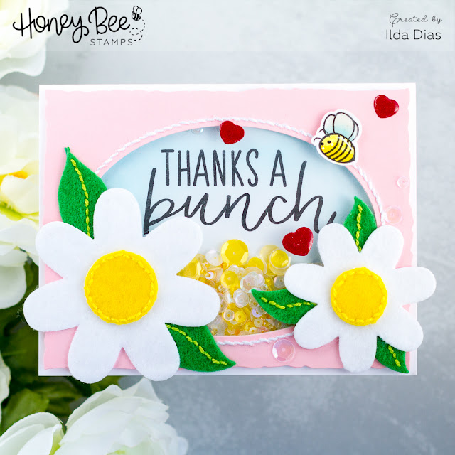 Thanks a Bunch Shaker Card for Honey Bee Day Blog Hop by ilovedoingallthingscrafty.com