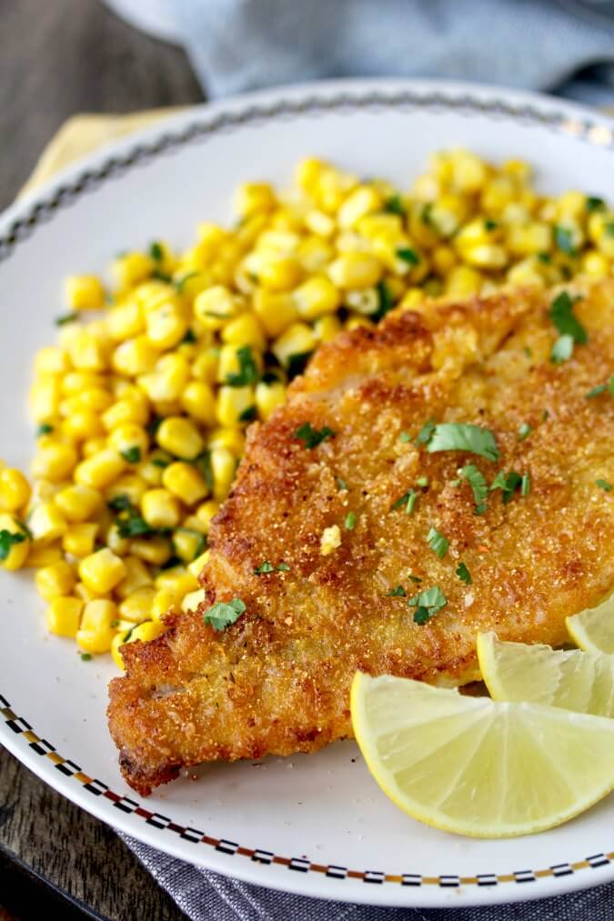 Cornmeal and Rice Crusted Catfish #catfish
