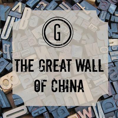 The Great Wall of China - Blogging Through the Alphabet on Homeschool Coffee Break @ kympossibleblog.blogspot.com #ABCBlogging