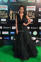 Esha Gupta in a Deep Neck Sleeveless Dark Green Gown at IIFA Utsavam Awards 2017     04.JPG