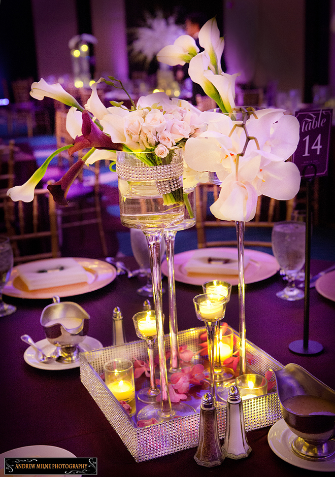 Wedding centerpieces asian theme images wedding dress for Wedding dress vase centerpiece