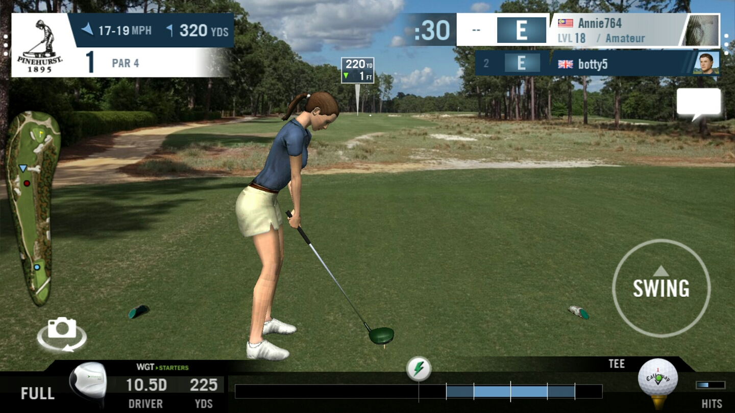 Life of Annie  Little chat at a virtual golf course  updated  I have been playing this game called WGT Golf since last week