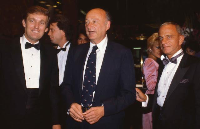 Trump with New York City Mayor Ed Koch, and Roy Cohn