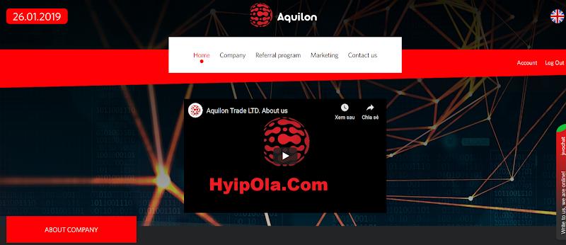 [SCAM] Review Hyip Aquilon.Trade [HK] - Đầu tư cùng công ty tài chính Hong Kong