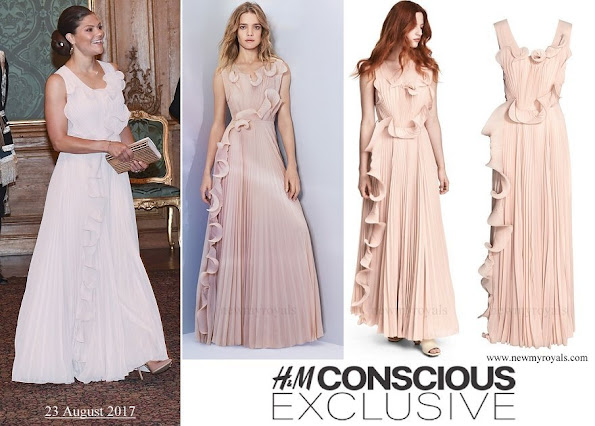 Crown Princess Victoria wore HM Conscious Exclusive Pleated Dress