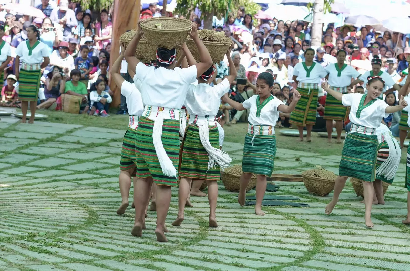 Bountiful Rice Harvest Dance 13th Lang-Ay Festival Bontoc Mountain Province Cordillera Administrative Region Philippines