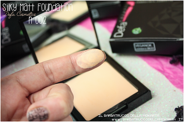 002 Silky Matt Foundations Defa Cosmetics Fondotinta vegan swatches