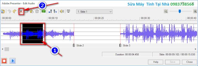 Xóa, chỉnh sửa ghi âm trong Presenter