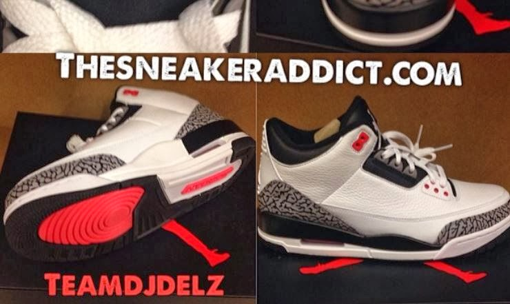 4abd7e4cd0ff Here is a detailed look via2014 Air Jordan III 3 Infrared23 Sneaker  releasing on 3 8 for 170 bucks