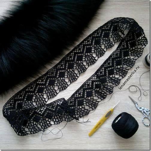 Patrón #1875: Como tejer delicado encaje a crochet.