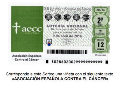 Loteria Nacional sorteo del cancer 9 de abril 2016