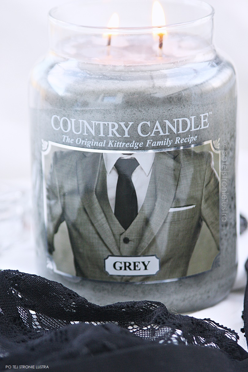 świeca zapachowa country candle grey