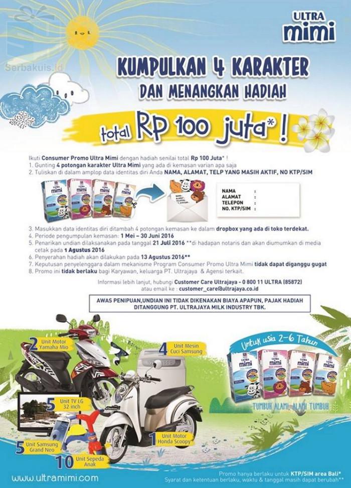 Undian Karakter Ultra mimi Bali Berhadiah Total 100 Juta
