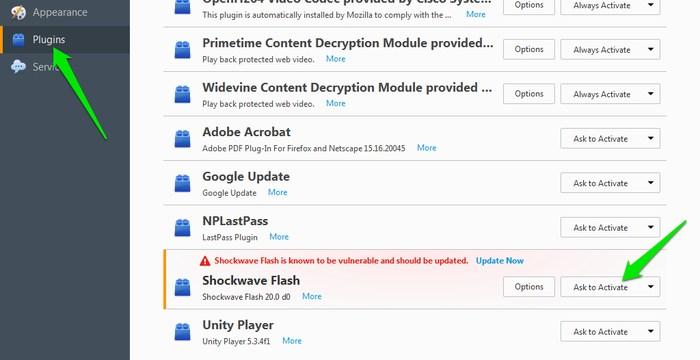 تسريع فايرفوكس: التحكم في تشغيل و ايقاف الفلاش بلاير