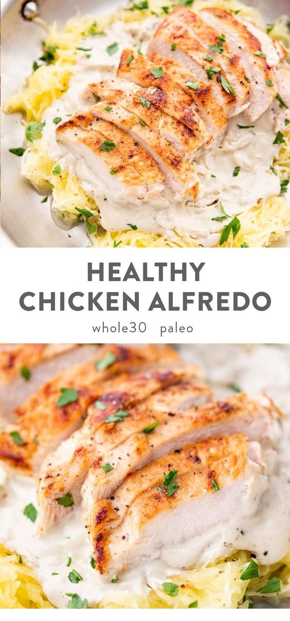 Healthy Chicken Alfredo