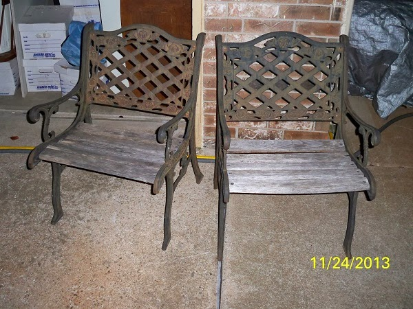 Outdoor Furniture   Vintage Wrought Iron Garden Chairs (NW OKC) $38