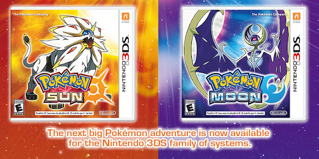 Pokémon Sun Moon boxart official release November 18