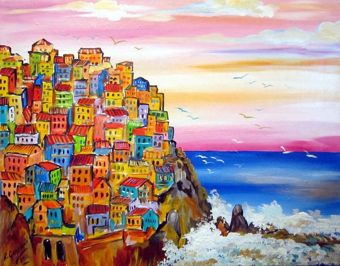 Итальянские деревни и пейзажи