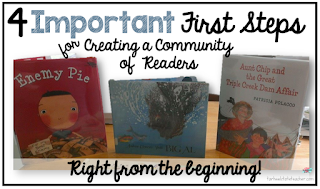 Important First Steps to Creating a Community of Readers at Beginning of Year