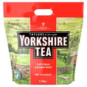 OFFER Yorkshire Tea bags 1.5kg contents 480 per pack £5 Normal Price £10.97 morrisons. complete info offer @DayUKDeals.com