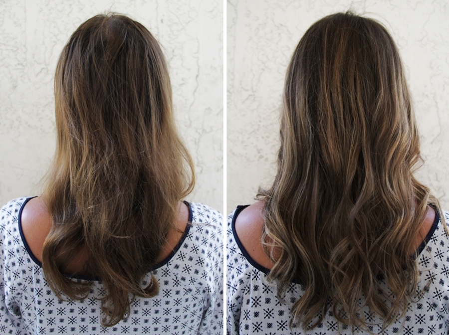 before and after transformation hair