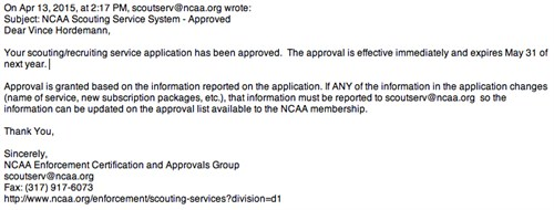Nescas Updated List Of Special >> Yes We Are A Ncaa Approved Recruiting Service What About