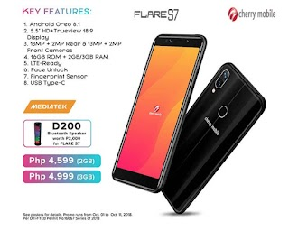 Cherry Mobile Flare S7 2GB/3GB Variant Specs, Price and Features
