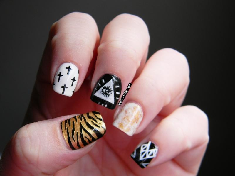 Toxic Vanity: Hipster nail art