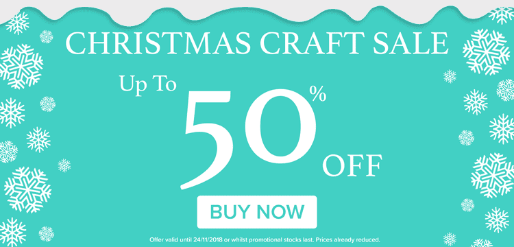 SALE: Up to 50% off Christmas crafts