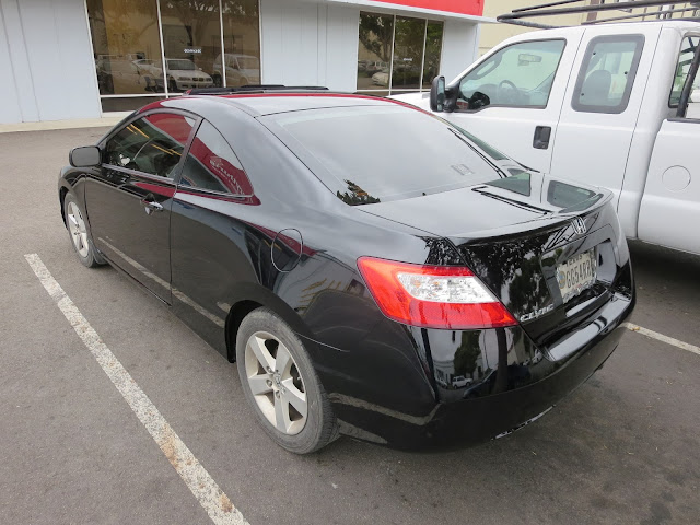 2008 Honda Civic Coupe with new auto paint at Almost Everything Auto Body