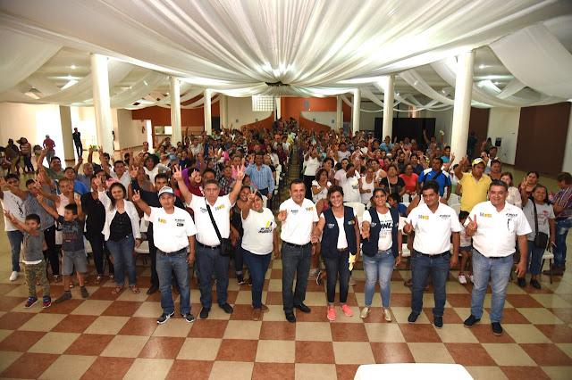 Se multiplica el apoyo de la estructura priista a Mariely Manterola