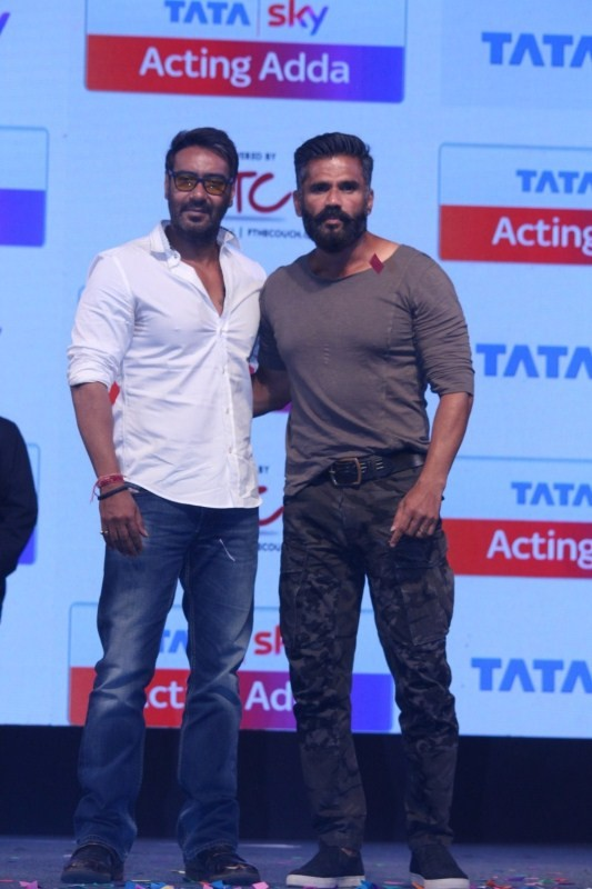Ajay Devgan and Suniel Shetty Launch Tata Sky Acting Adda