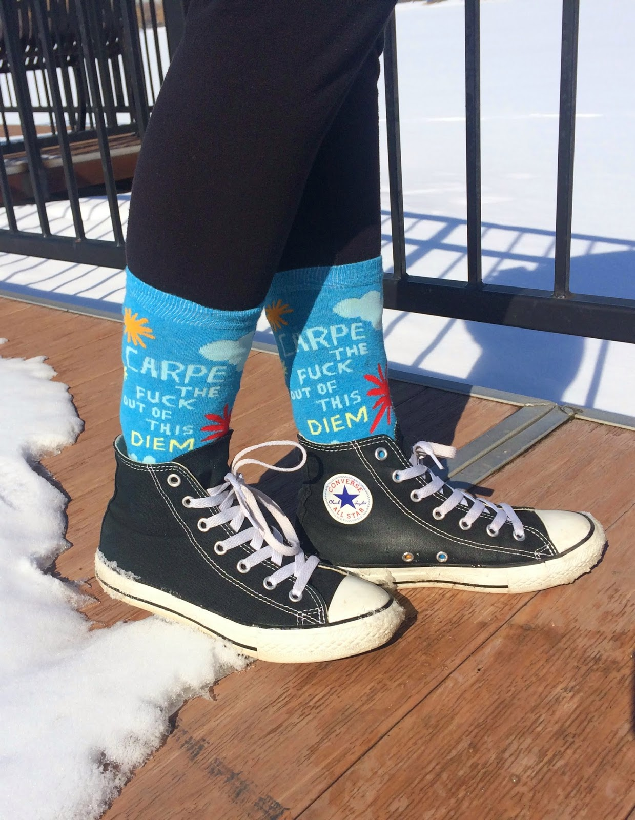 Quirky Carpe Diem Socks