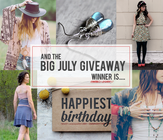 The Bubby and Bean Big July Giveaway Winner