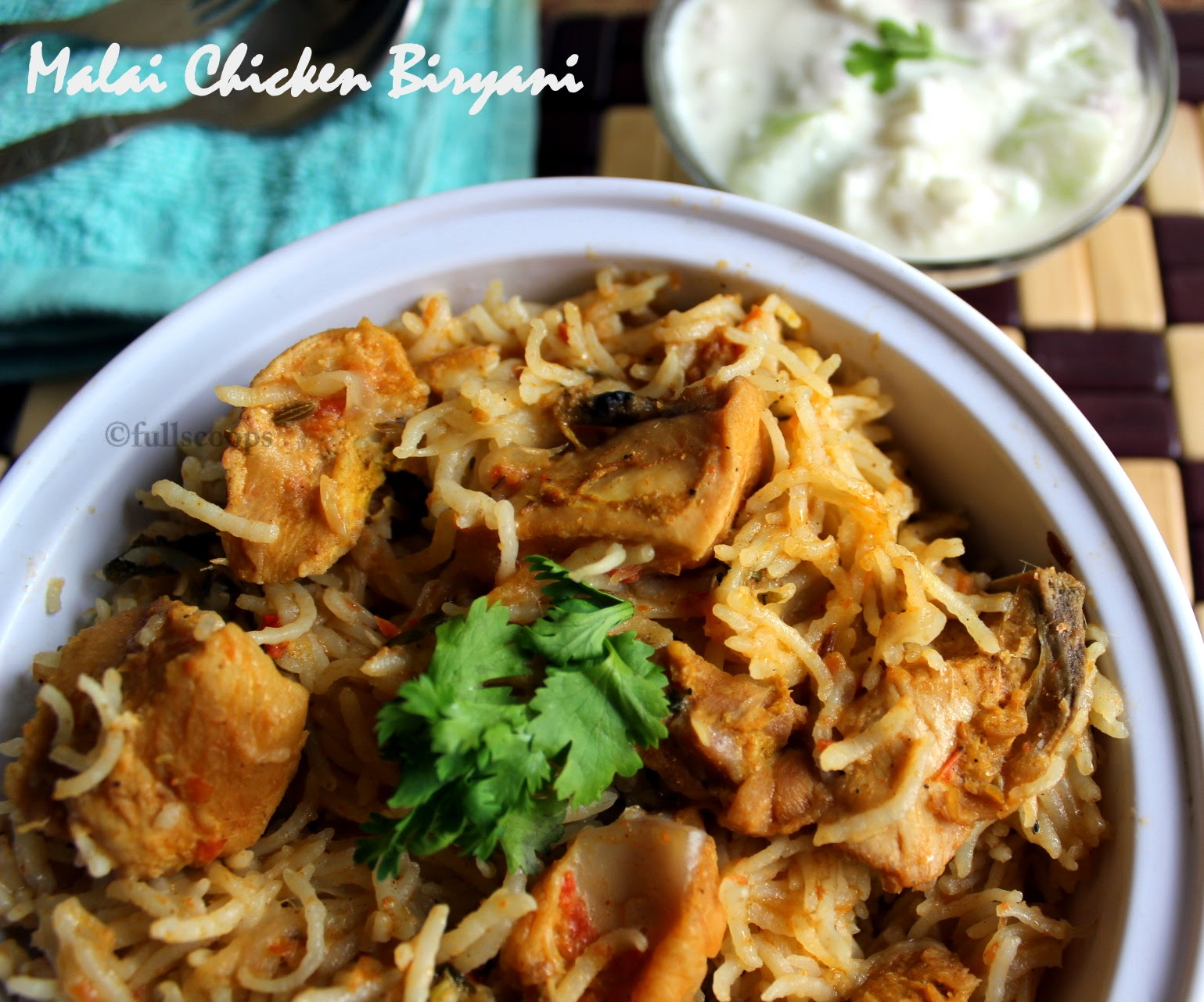 Malai Chicken Biryani