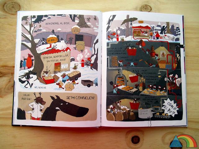 """Interior del libro """"El lobo en calzoncillos. ¡Se me congelan!"""""""