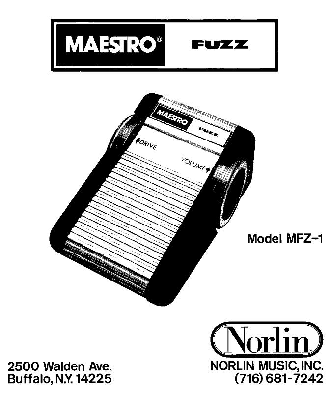 Guitar FX Layouts: Maestro MFZ-1