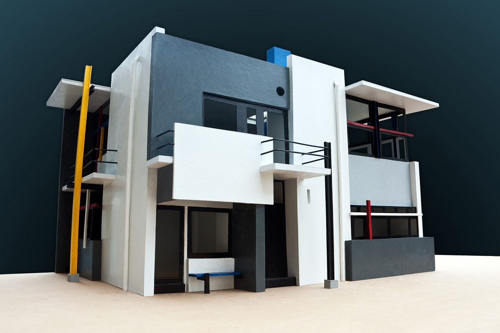 Rietveld Schroder House Scale Model emanuel landau
