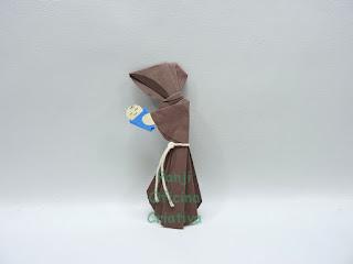 santo antonio feito em origami marcador de livro