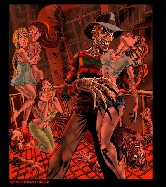 Freddy Krueger y sus víctimas