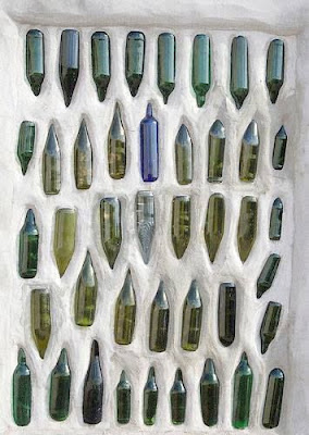 botellas de cristal recicladas