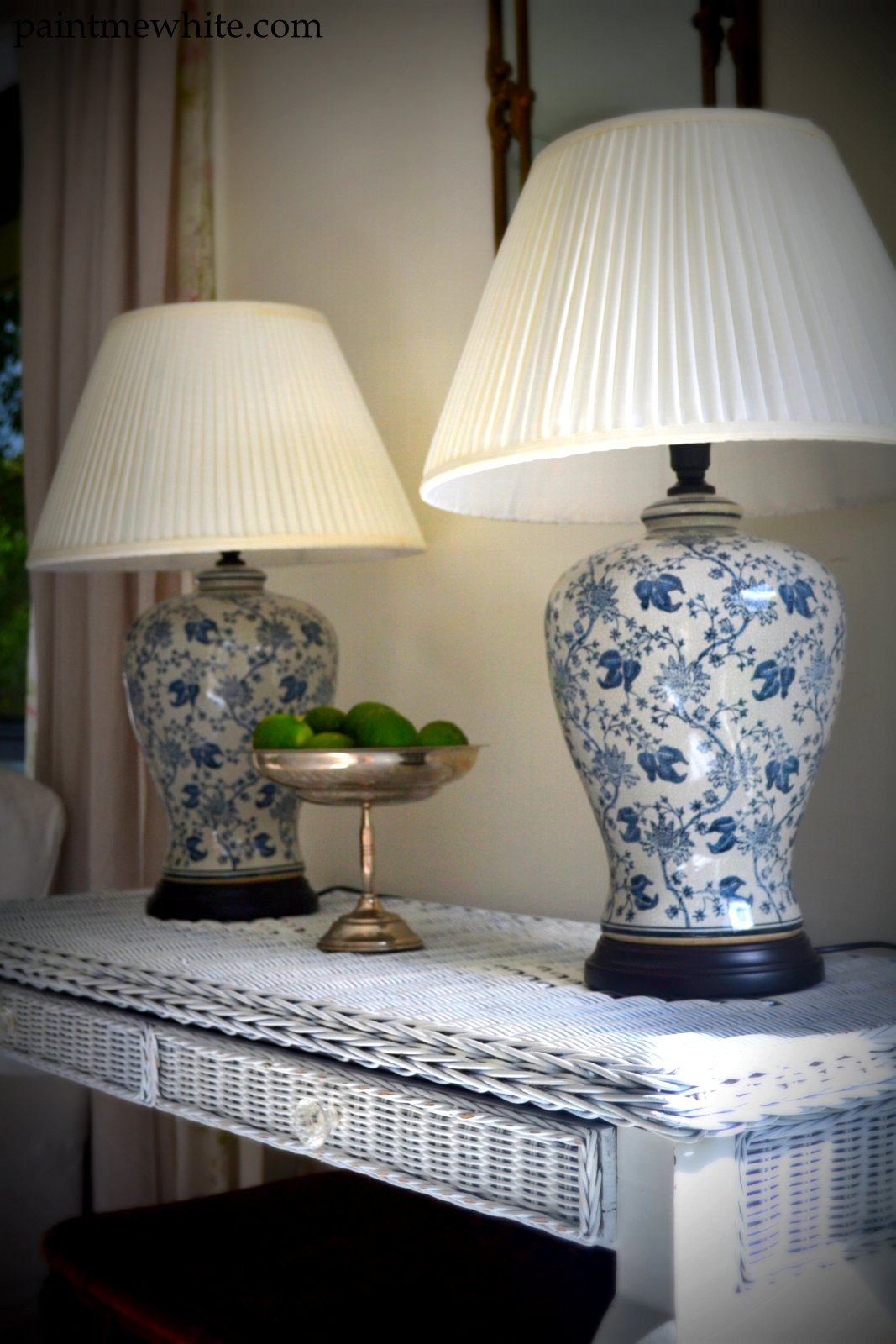 Sideboard And Ginger Jar Lamps Paint Me White
