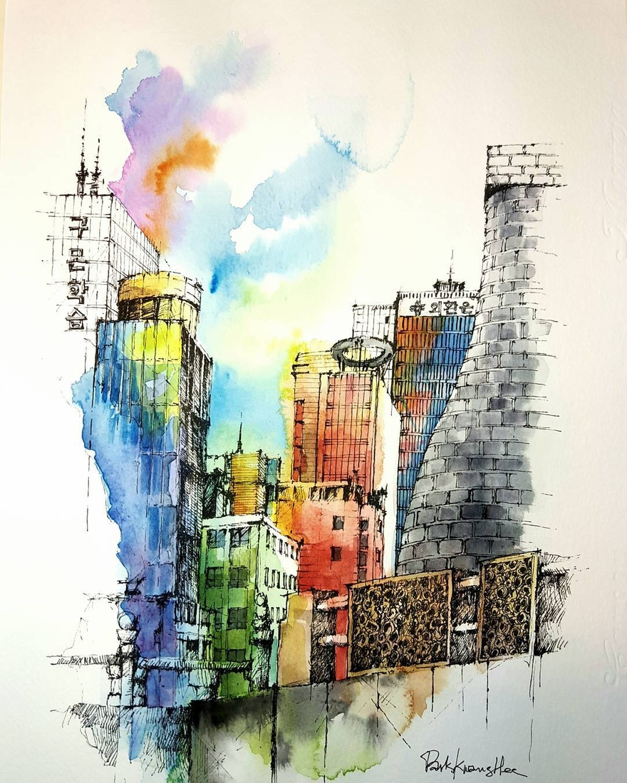 10-Park-Kwang-Hee-Architectural-Sketches-Interior-Exterior-Old-and-New-www-designstack-co