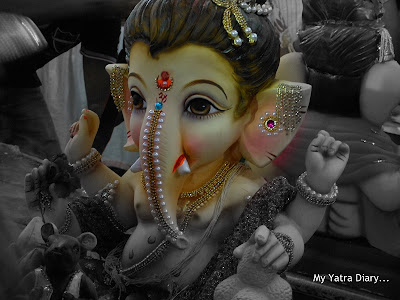 Lord ganesh looks on - Ganesh Chaturthi festival