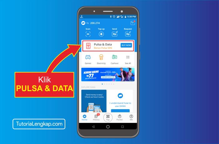 tutorialengkap 2 cara beli pulsa online melalui akun dana di hape android