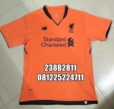 8ed9b7f0622 Jual Jersey Liverpool Third Orange 2017-2018 Setelan Jersey Celana Kaos  Kaki Nameset