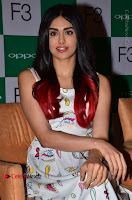 Bollywood Actress Adah Sharma Pos in White Printed Short Dress at OPPO F3 Plus Selfie Expert Mobile Launch .COM 0044.jpg